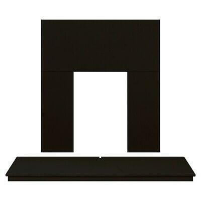 Adam Fireplace Back Panel and Hearth Set in Black, 48 Inch