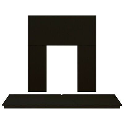 Adam Fireplace Back Panel and Hearth Set in Black, 54 Inch