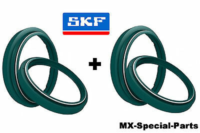 2x SKF Fork Gaskets + Dust Caps Marzocchi 45# KTM EGS 125 200 250 300 360