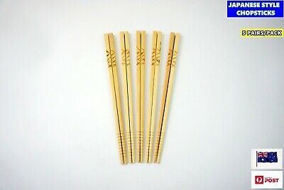 New Japanese High Quality Chopsticks - 5 pairs per pack (C338)