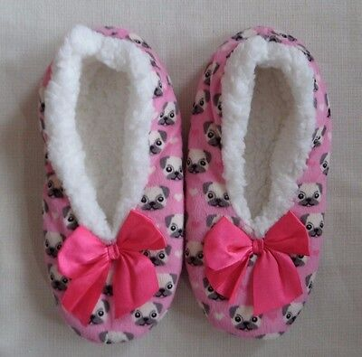Co-zees sherpa fleece soft warm cute slippers size 4-7