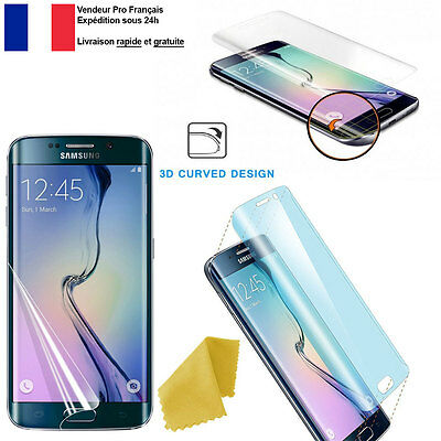 Lot 10 Films De Protection Écran Incurvé + Lingette Pour Samsung Galaxy Edge