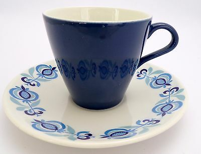 Poole Pottery Retro MOROCCO Tea Cup and Saucer 1950/60's