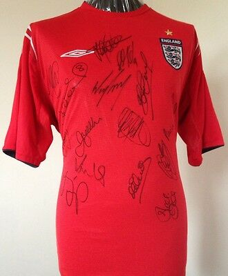 England 2004 Multi Signed Shirt With Letter Of Guarantee