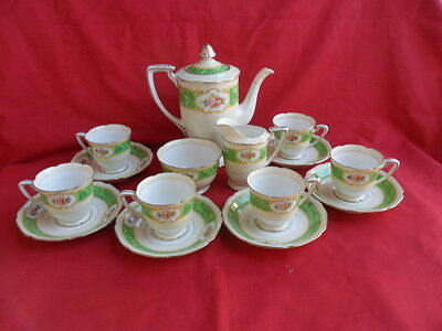 Noritake Floral Design Complete Coffee Set (15 pieces)