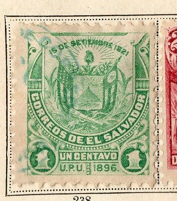 El Salvador 1896 Early Issue Fine Used 1c. 094085