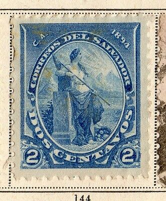 El Salvador 1894 Early Issue Fine Mint Hinged 2c. 094196