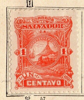 El Salvador 1891 Early Issue Fine Mint Hinged  1c. 094213