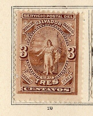 El Salvador 1887-89 Early Issue Fine Mint Hinged 3c. 094220