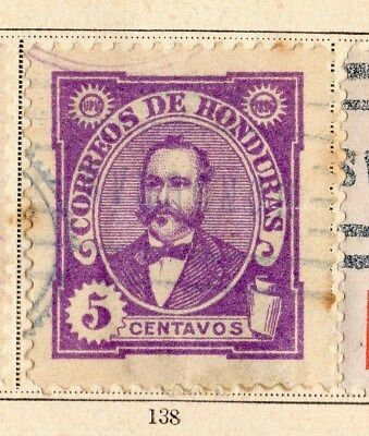 Honduras 1896 Early Issue Fine Used 5c. 094243