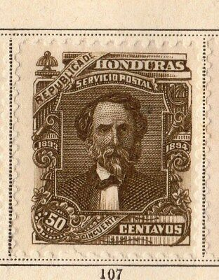 Honduras 1893 Early Issue Fine Mint Hinged 50c. 094276