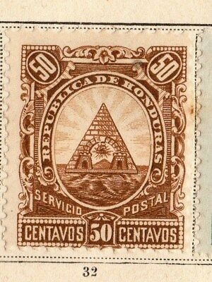 Honduras 1890 Early Issue Fine Mint Hinged 50c. 094290