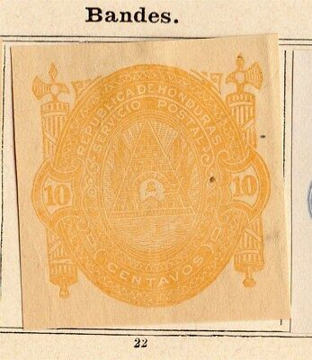 Honduras 1890 Early Issue Fine Mint Hinged 10c. Imperf 094298