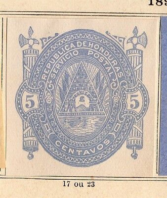 Honduras 1890 Early Issue Fine Mint Hinged 5c. Imperf 094299