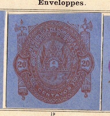 Honduras 1890 Early Issue Fine Mint Hinged 20c. Imperf 094301