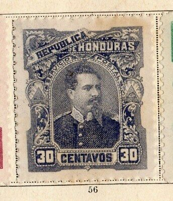 Honduras 1891 Early Issue Fine Mint Hinged 30c. 094309