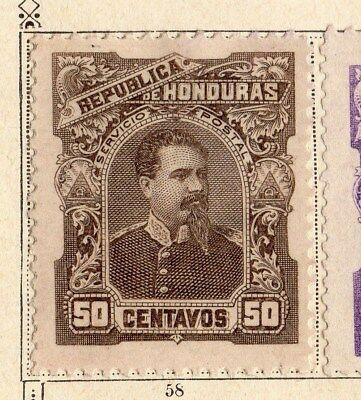 Honduras 1891 Early Issue Fine Mint Hinged 50c. 094311