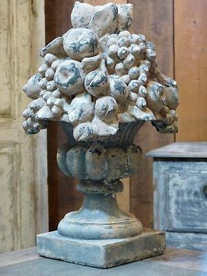 Large vintage French garden finial - fruit basket