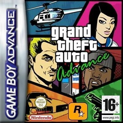 Grand Theft Auto Gameboy Advance Game Gba