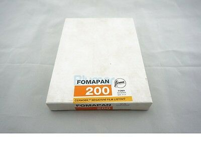 Foma Fomapan 200 4x5 inch large format ISO 200 B&W FILM 50 sheets 3-2019!