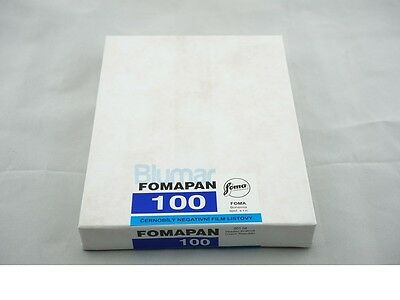 Foma Fomapan 100 4x5 inch large format ISO 100 B&W FILM 50 sheets FRESH 5/2019