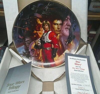 Star Wars A New Hope Trilogy Collection Plate, Hamilton