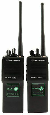 MOTOROLA MT6000E UHF 4 WATT HEAVY DUTY TWO WAY WALKIE-TALKIE RADIOS x 2