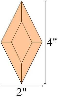 2x4 Diamond Stained Glass Bevels - PEACH (5)