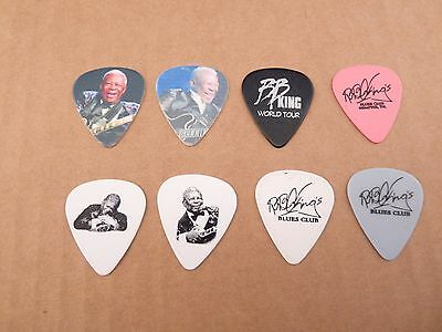 BB King King Of The Blues Music Tour Issued Guitar 8 Picks Lot Lucille