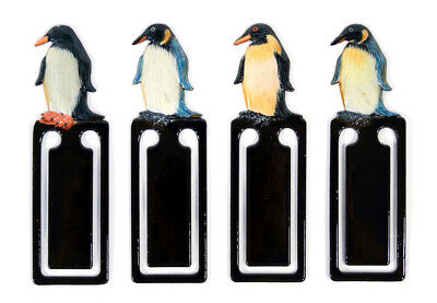 Hand Painted Penguin Bird Assorted Color Bookmarks (Set of 4) 944P
