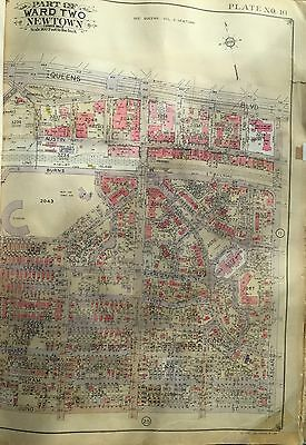 Orig 1927 Forest Hills Gardens & West Side Tennis Stadium Queens Ny Atlas Map