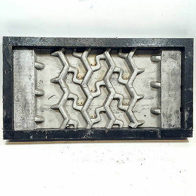 Vintage Industrial Tire Tread Aluminum Mold Pattern Cool Man Cave Wall Art Décor