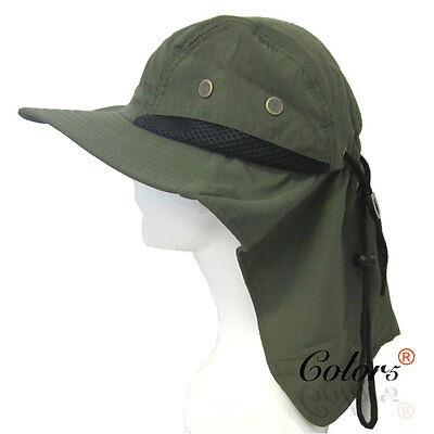 Color5 NEW  Outdoor Camping Hiking Sun Protection Hat With Neck Cover Flap