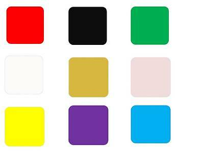 9 Different Colours Drink Coasters Sets Of 1-2-4 And 6