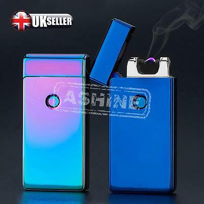 UK USB Rechargeable Electric LIGHTER Double ARC PULSE Flameless Plasma Torch New