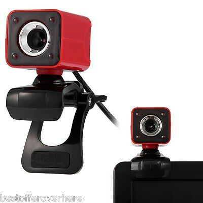 Rotatable HD Webcam Clip-on Web PC Camera with MIC / Night Version