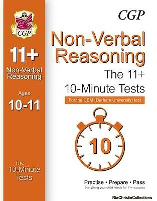 10-Minute Tests for 11 Non-Verbal Reasoning Ages 10-11 - CEM Test CGP Books CGP