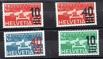 Switzerland 1935-1937 MNH/LHM Airmail stamps WS1523