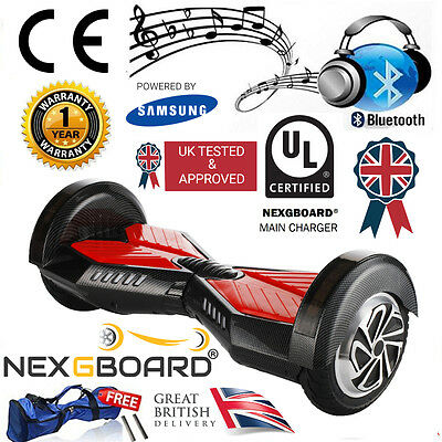 "Black 8.0"" Hoverboard Swegway with Bluetooth Speaker & UL CE Approved Charger."
