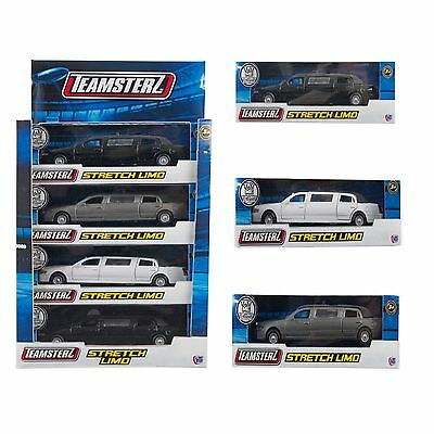 Teamsterz Toy Car Limousine Stretch Limo In Black Silver OR White NEW BOXED