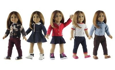 "Hot 5 Set Doll Clothes Casual Wear Dress Skirt Outfit For 18"" inch American Girl"