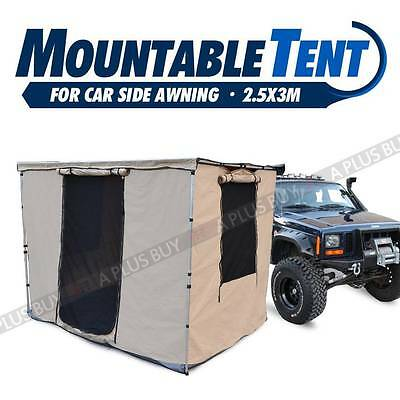 New 2.5x3M Mountable Tent Room House for Car Side Awning Waterproof Free Bag