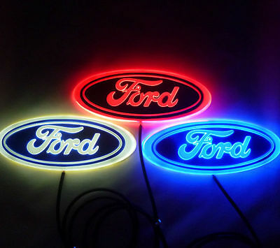 4D WHITE RED BLUE Led FORD Focus Mondeo styling Logo REAR FRONT Badge Emblem