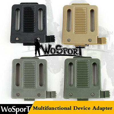 QD Multifunctional Device Adapter Mount Bracket for Tactical Airsoft Fast Helmet