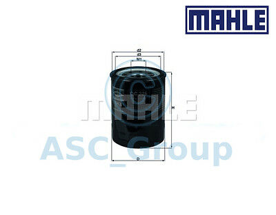 Genuine MAHLE Replacement Screw-on Engine Oil Filter OC 326 OC326