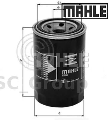 Genuine MAHLE Replacement Screw-on Engine Oil Filter OC 275 OC275