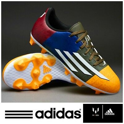 adidas F5 Messi Boys Football Boots Junior FG Firm Ground Studs Kids Boot NEW