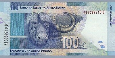 New South Africa 100 Rand (2015) signature - Mandela/Water Buffalo/p136 UNC