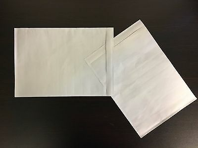 "7"" X 10"" Clear Adhesive Packing List Shipping Label Envelopes Pouches 100 ct"