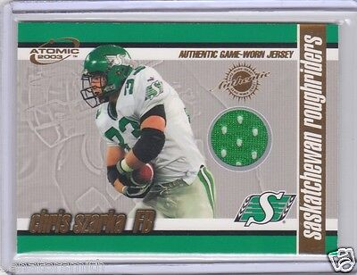 2003 Pacific Atomic CFL Game Jersey #13 Chris Szarka Saskatchewan Roughriders